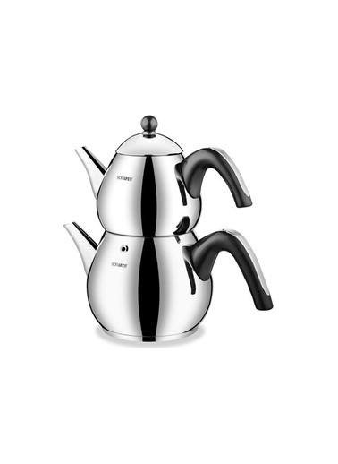 Schafer schafer-teachefbüyül Schafer Tea Chef Büyük Boy Çaydanlık Siyah